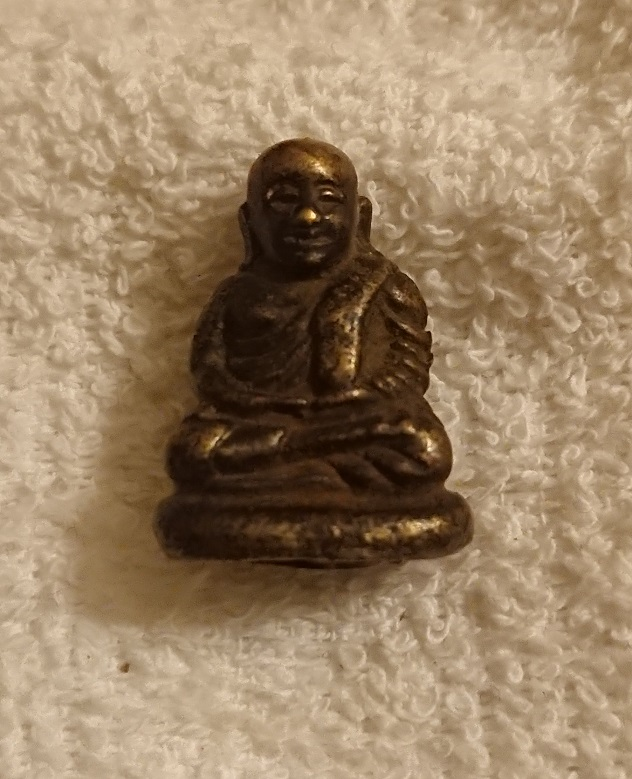 Antique buddha. LP Ngern. 100 years old.