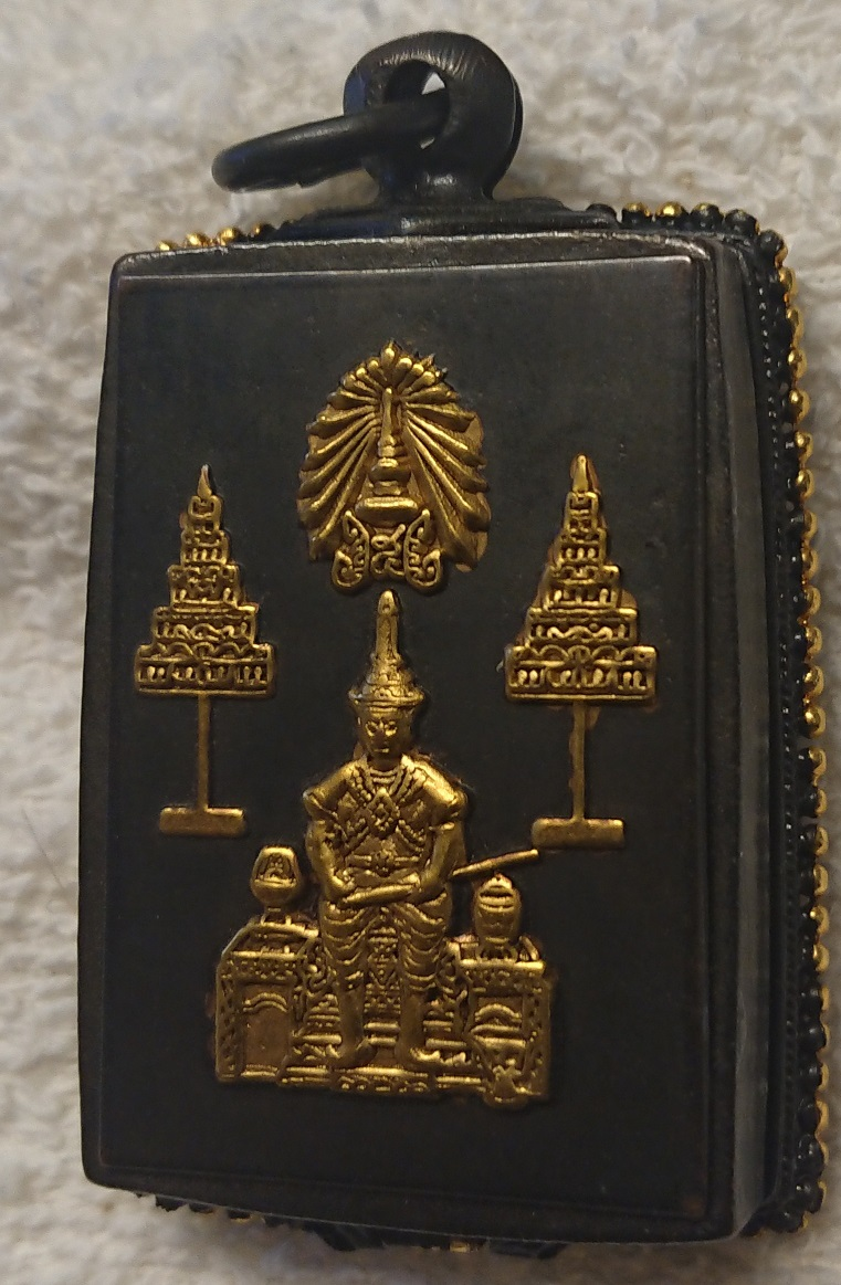 Phra SOMDEJ. Pim Chedi. Amazing 150 year old with Rama 5 case.